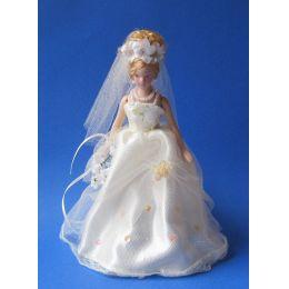 Braut Naomi Puppe für die Puppenstube Miniatur 1:12