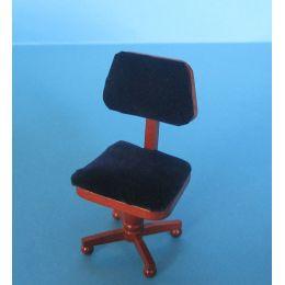 Bürostuhl für Arbeitszimmer oder Büro Puppenhausmöbel Miniatur1:12