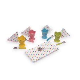 Eisbecher Puppen Geschirr aus Keramik  14 Teile