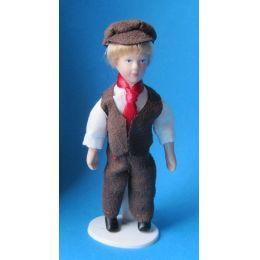 Junge 11 cm gross  Puppe für Puppenhaus Miniatur 1:12