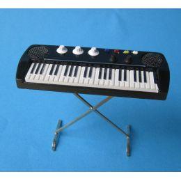 Keyboard Musikinstrument Puppenhaus Dekoration Miniaturen 1:12