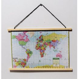 Landkarte bunt Puppenhaus Dekoration Miniaturen 1:12
