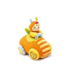 Lustiges Kuschelauto Racer mit Biene Pia  Kuscheltier Motorikspielzeug