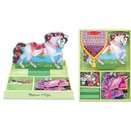 Magnetisches Pferd zum Schmuecken Anziehpuppe Holz 55 Teile Melissa & Doug