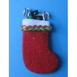 Nikolausstiefel gefüllt weihnachtliche Dekoration im Puppenhaus Miniatur 1:12