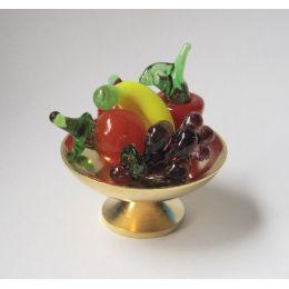Obstschale mit Früchten für das Puppenhaus Dekorationen Miniaturen 1:12