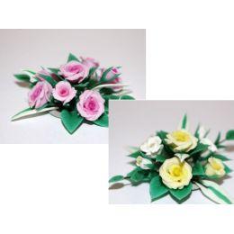 Puppenhaus Blumen  Rosen Tischschmuck Bouquet  Puppenstuben Dekoration Miniatur 1:12