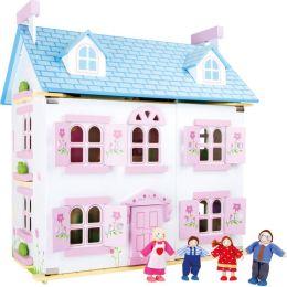 Puppenhaus Blumentraum inkl. Puppenmöbel und Puppen