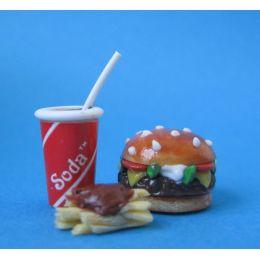 Puppenhaus Mini Burger Set Dekoration Miniaturen 1:12
