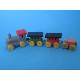 Puppenhaus Mini Eisenbahn mit Lok und Waggon Dekoration Miniaturen 1:12