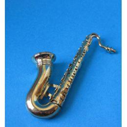 Puppenhaus Saxophon goldfarben Musikinstrument Miniaturen 1:12