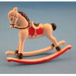 Puppenhaus Schaukelpferd Metall Puppenhausmöbel Dekoration Spielzeug Miniatur 1:12