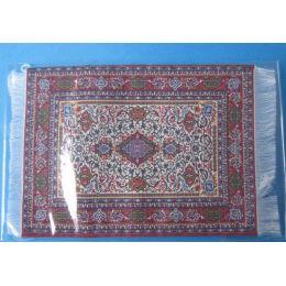 Puppenstuben Teppich rot 16,5 x 10 cm Puppenhaus Dekorationen Miniatur 1:12
