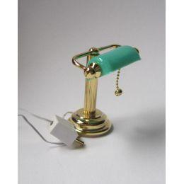 Schreibtischlampe gruen  Puppenhaus Beleuchtung Miniaturen 1:12