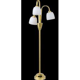 Stehlampe 3flammig weiss LED Puppenhaus Beleuchtung Miniaturen 1:12