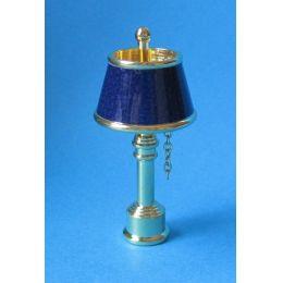 Tischlampe  blau  Puppenhaus Beleuchtung Miniaturen 1:12
