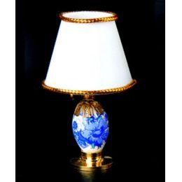 Tischlampe LED weiss blau  Puppenhaus Beleuchtung Miniaturen 1:12