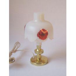 Tischlampe mit  Blumendekordekor  Miniaturlampe für Puppenhaus