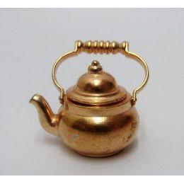 Wasserkessel Metall für die Puppenhaus Küche Miniaturen 1:12