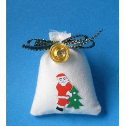 Weihnachtsmann Sack mit Glocke Dekoration im Puppenhaus Miniatur 1:12