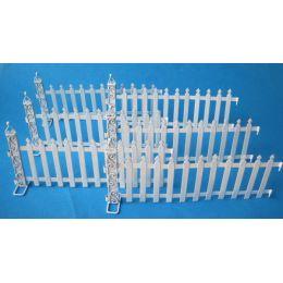 Zaun Metall weiß 6 tlg. für Puppenhaus Garten Dekoration Miniatur 1:12
