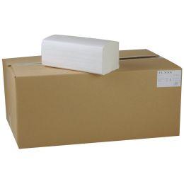 4000 Blatt hochweisse Zellstoff Papierhandtücher ca. 25 cm x 20 cm, 2 lagig, weich, 20 x 200 Stück im Karton