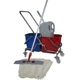 CleanSV® Wischset 50 cm  Reinigungwagen cxhrom , Mopp Set 50 cm:  3 Baumwollmop / Wischmop, Mophalter, Telesko