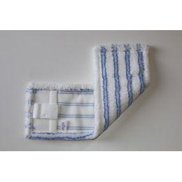 Laschenmikrofasermop 40 cm blau / weiß mit Lasche und Tasche