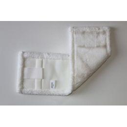 Laschenmikrofasermop 40 cm weiß mit Lasche und Tasche