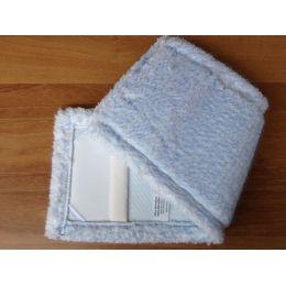 MikrofaserMop Igel 50 cm weiß mit blauen Polyborst