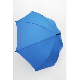 Benetton Regenschirm Stockschirm blau