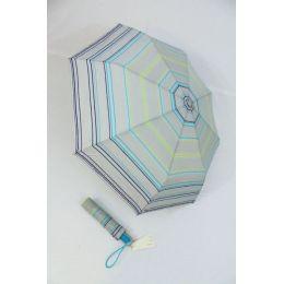 Esprit  Automatik Regenschirm Damen grau gestreift 50882