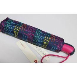 Esprit blauer Automatik Regenschirm Taschenschirm Damen Letter blue