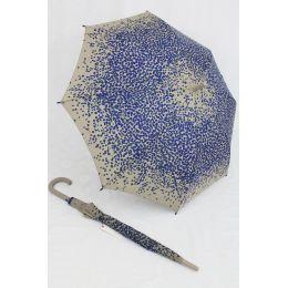 Esprit Regenschirm Stockschirm grau / blau Langschirm für Damen Punkte