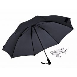 EUROSCHIRM Swing liteflex schwarz Regenschirm für Damen und Herren Trekking