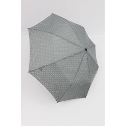 Happy Rain Automatik Regenschirm Dots hellgrau gepunktet 46851 Taschenschirm