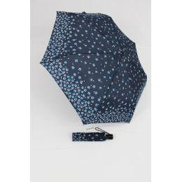 Happy Rain Automatik Regenschirm für Damen Millefleurs blau