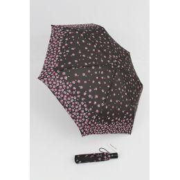 Happy Rain Automatik Regenschirm für Damen Millefleurs braun