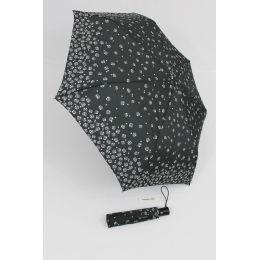 Happy Rain Automatik Regenschirm für Damen Millefleurs schwarz