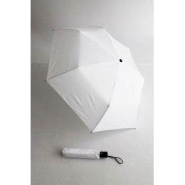Happy Rain Automatik Regenschirm für Damen weiß Taschenschirm