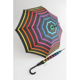 Happy Rain gestreifter bunter Stockschirm Stripe 02 Regenschirm