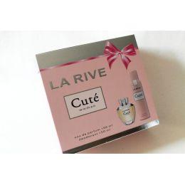 La Rive Geschenkset Cute` EDP 100 ml und Deo für Damen 150 ml