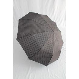 Pierre Cardin Automatik Regenschirm für Herren grau/ schwarz gemustert straffes Dach 06