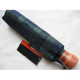 Pierre Cardin Automatik Regenschirm karo blau/grün Taschenschirm