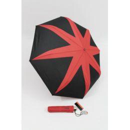 Pierre Cardin Automatik Regenschirm schwarz rot Taschenschirm