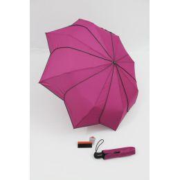 Pierre Cardin Automatik Regenschirm Sunflower dunkles pink