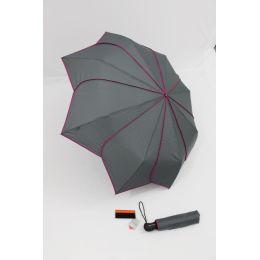 Pierre Cardin Automatik Regenschirm Sunflower grau pink