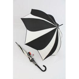 Pierre Cardin Stockschirm Glockenschirm Sunflower cremeweiß/ schwarz 02
