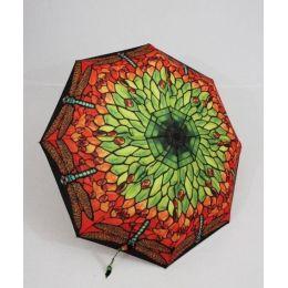 Susino Regenschirm Automatik Taschenschirm Damen Libelle windproof 3563