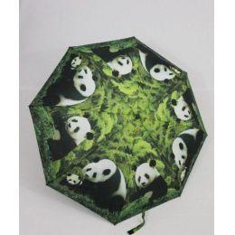 Susino Regenschirm Automatik Taschenschirm Damen Pandabär windproof 3563